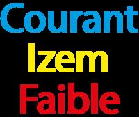 COURANT IZEM FAIBLE